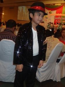 """Mai"" a student dressed in MJ garb"